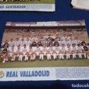 Coleccionismo deportivo: MINI POSTER LIGA 95 - 96 ( REAL VALLADOLID ) + FICHAS DE LOS JUGADORES DEL RACING SANTANDER . Lote 160890634