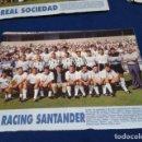 Coleccionismo deportivo: MINI POSTER LIGA 95 - 96 ( RACING SANTANDER ) + FICHAS DE LOS JUGADORES DEL REAL SOCIEDAD . Lote 160890722