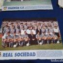 Coleccionismo deportivo: MINI POSTER LIGA 95 - 96 ( REAL SOCIEDAD ) + FICHAS DE LOS JUGADORES DEL VALENCIA C.F.. Lote 160890782