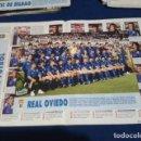 Coleccionismo deportivo: MINI POSTER LIGA 95 - 96 ( REAL OVIEDO CON FICHA ) + FICHAS DE LOS JUGADORES DEL ATH. DE BILBAO . Lote 160891002