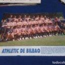 Coleccionismo deportivo: MINI POSTER LIGA 95 - 96 ( ATHLETIC DE BILBAO ) + FICHAS DE LOS JUGADORES DEL REAL ZARAGOZA. Lote 160891098