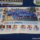 Coleccionismo deportivo: MINI POSTER LIGA 95 - 96 ( R.C.D ESPANYOL CON FICHA ) + FICHAS DE LOS JUGADORES DEL ALBACETE . Lote 160891390