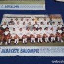 Coleccionismo deportivo: MINI POSTER LIGA 95 - 96 ( ALBACETE BALOMPIE ) + FICHAS DE LOS JUGADORES DEL F.C. BARCELONA. Lote 160891494
