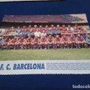 Coleccionismo deportivo: MINI POSTER LIGA 95 - 96 ( F.C. BARCELONA ) + FICHAS DE LOS JUGADORES DEL REAL BETIS. Lote 160891594