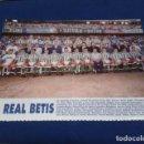 Coleccionismo deportivo: MINI POSTER LIGA 95 - 96 ( REAL BETIS ) + FICHAS DE LOS JUGADORES DEL DEPORTIVO DE LA CORUÑA. Lote 160891858