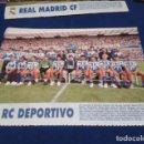 Coleccionismo deportivo: MINI POSTER LIGA 95 - 96 ( DEPORTIVO DE LA CORUÑA ) + FICHAS DE LOS JUGADORES DEL REAL MADRID . Lote 160891934