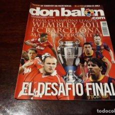Coleccionismo deportivo: REVISTA DON BALÓN Nº 1856 - EL DESAFÍO FINAL , BARCELONA C.F -MANCHESTER UNITED .. Lote 160964834