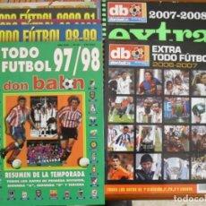 Collectionnisme sportif: LOTE 10 REVISTAS DON BALON-RESUMEN DE LAS TEMPORADAS,TODOS LOS DATOS DE 1ª SEGUNDA A Y B Y TERCERA. Lote 161075382