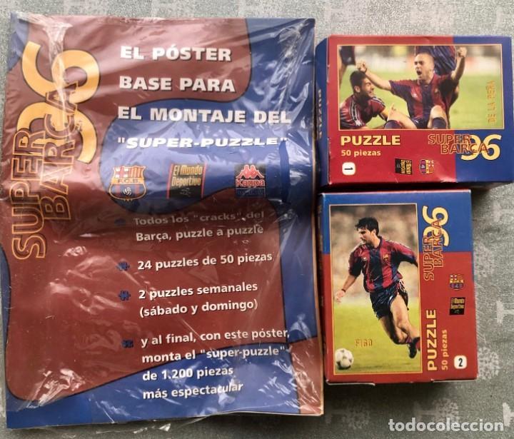 SUPER PUZZLE BARÇA1996. POSTER + PUZZLE DE LA PEÑA Y FIGO. MUNDO DEPORTIVO (Coleccionismo Deportivo - Revistas y Periódicos - Mundo Deportivo)