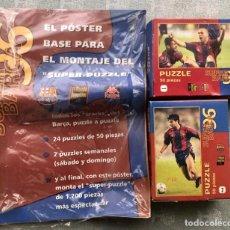Coleccionismo deportivo: SUPER PUZZLE BARÇA1996. POSTER + PUZZLE DE LA PEÑA Y FIGO. MUNDO DEPORTIVO. Lote 161101070