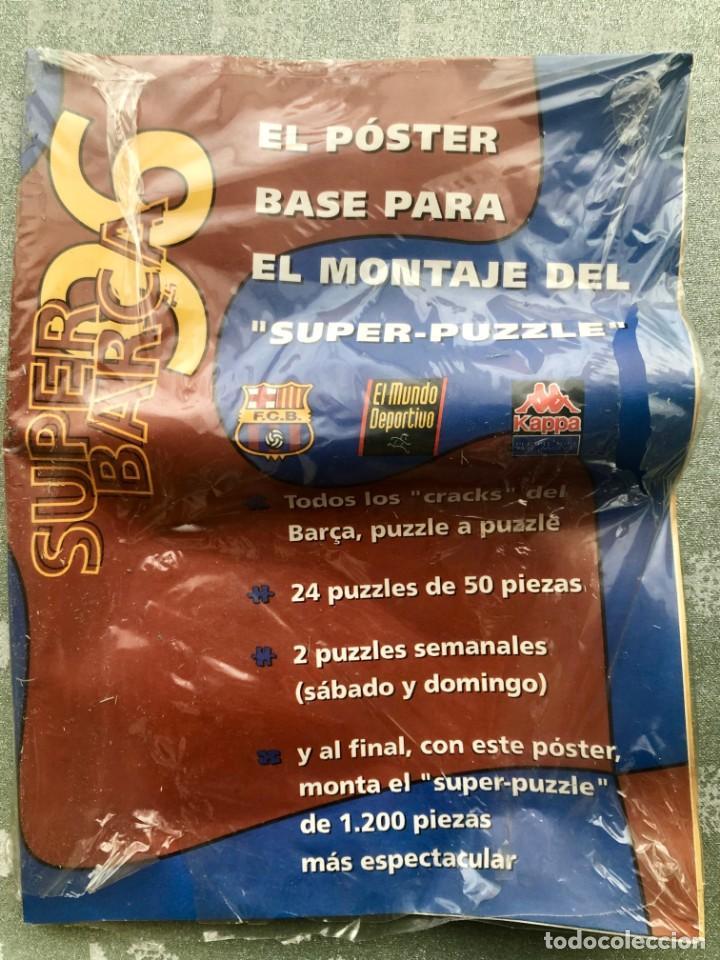 Coleccionismo deportivo: SUPER PUZZLE BARÇA1996. POSTER + PUZZLE DE LA PEÑA Y FIGO. MUNDO DEPORTIVO - Foto 2 - 161101070