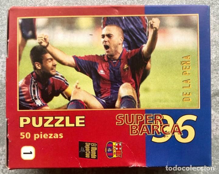 Coleccionismo deportivo: SUPER PUZZLE BARÇA1996. POSTER + PUZZLE DE LA PEÑA Y FIGO. MUNDO DEPORTIVO - Foto 4 - 161101070