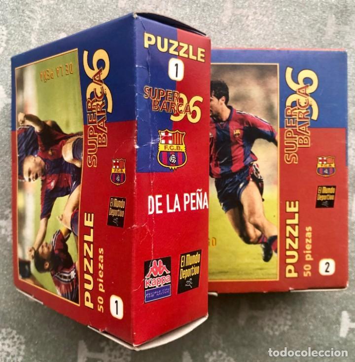 Coleccionismo deportivo: SUPER PUZZLE BARÇA1996. POSTER + PUZZLE DE LA PEÑA Y FIGO. MUNDO DEPORTIVO - Foto 5 - 161101070