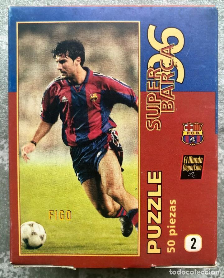 Coleccionismo deportivo: SUPER PUZZLE BARÇA1996. POSTER + PUZZLE DE LA PEÑA Y FIGO. MUNDO DEPORTIVO - Foto 8 - 161101070
