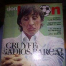 Coleccionismo deportivo: REVISTA DON BALON MAYO 1975 CON ESPECIAL DE CRUYFF EN SU DESPEDIDA.. Lote 136746706