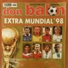 Coleccionismo deportivo: REVISTA DON BALÓN, EXTRA MUNDIAL 98. Lote 161565790