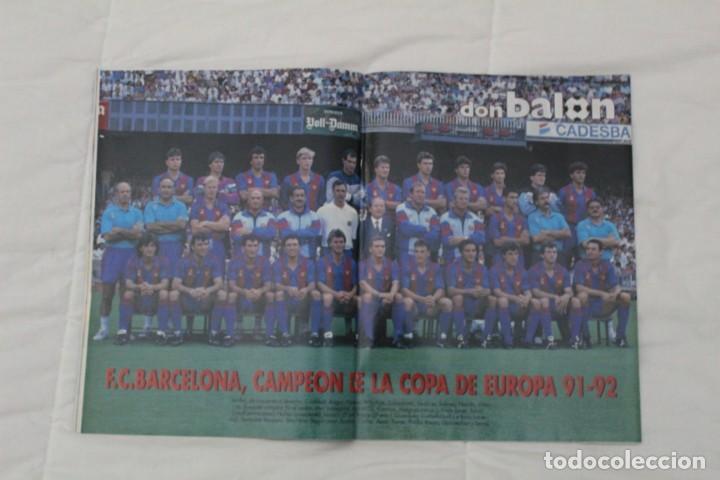 Coleccionismo deportivo: REVISTA DON BALÓN. Nº 864 y 865. CAMPEÓN BARCELONA. PRIMERA COPA DE EUROPA (1992) - Foto 2 - 161796306