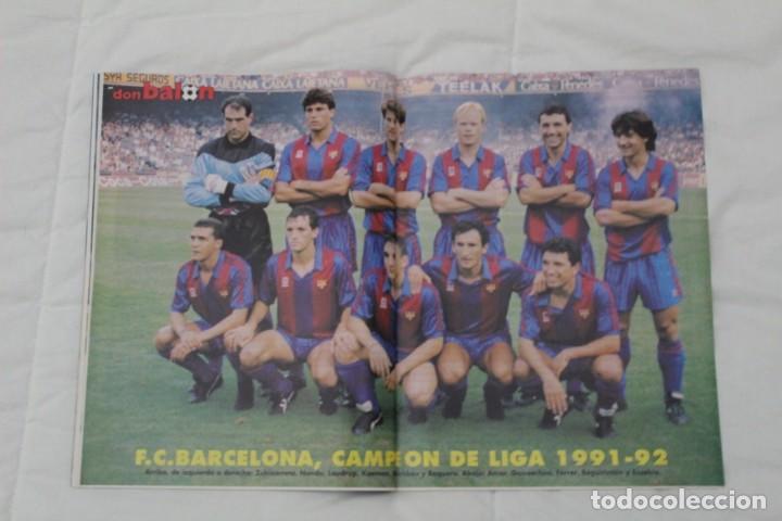 Coleccionismo deportivo: REVISTA DON BALÓN. Nº 867. DOBLETE HISTÓRICO F.C BARCELONA (1992) - Foto 2 - 161796974
