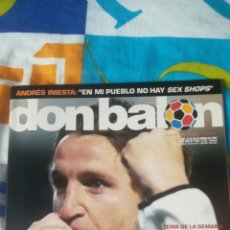 Coleccionismo deportivo: DON BALON NÚMERO 1535 MISTA, INIESTA PÓSTER KAMENI DEL ESPANYOL. Lote 161877966