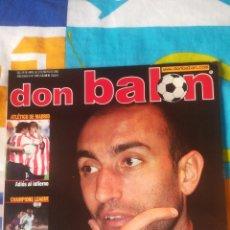 Coleccionismo deportivo: DON BALON NÚMERO 1385 ABELARDO, ATLÉTICO MADRID, PÓSTER AIMAR DEL VALENCIA. Lote 161879732