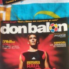 Coleccionismo deportivo: DON BALON NÚMERO 1481 RAÚL, CAÑIZARES, BILBAO, CRUYFF, PÓSTER DE FERNANDO TORRES ATLÉTICO MADRID. Lote 161880774