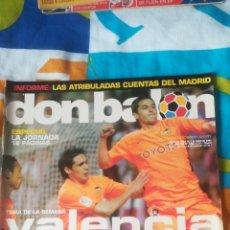 Coleccionismo deportivo: DON BALON NÚMERO 1469 VALENCIA, SERGI, REAL MADRID, PÓSTER DE PANDIANI DEL DEPOR. Lote 161885910