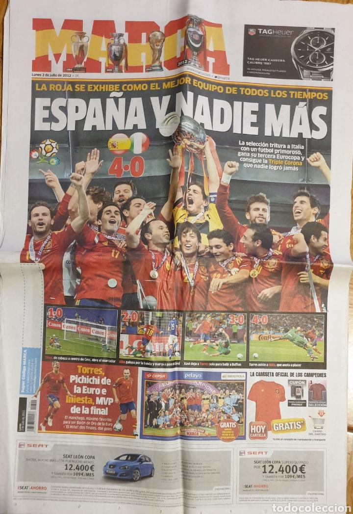 MARCA ESPAÑA CAMPEONA EUROCOPA 2012 (Coleccionismo Deportivo - Revistas y Periódicos - Marca)
