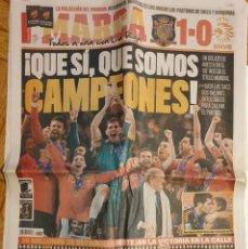 Coleccionismo deportivo: MARCA ESPAÑA CAMPEONA DEL MUNDO 2010. Lote 161951266