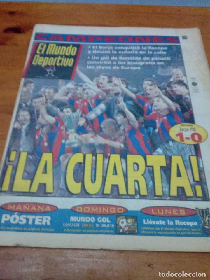 EL MUNDO DEPORTIVO. 1997. LA CUARTA. CAMPEONES. EL BARÇA CONQUISTO LA RECOPA... EST1B1 (Coleccionismo Deportivo - Revistas y Periódicos - Mundo Deportivo)