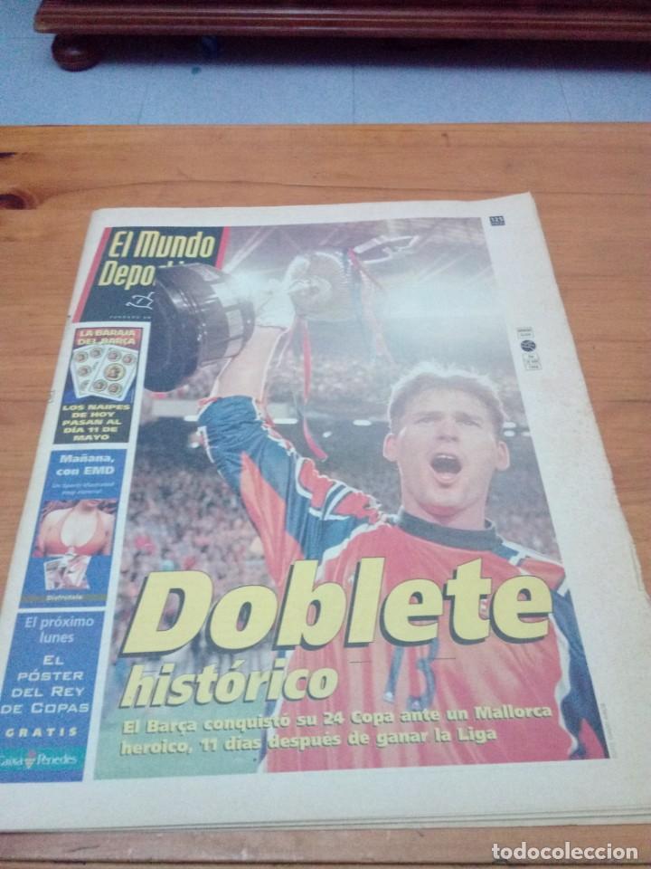 EL MUNDO DEPORTIVO. 1998. DOBLETE HISTÓRICO. EL BARÇA CONQUISTÓ SU 24 COPA ... EST1B1 (Coleccionismo Deportivo - Revistas y Periódicos - Mundo Deportivo)