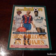 Coleccionismo deportivo: REVISTA DON BALON Nº 829 - SCHUSTER ENTREVISTA A FONDO- FICHAJES MILLONARIOS. Lote 162101734