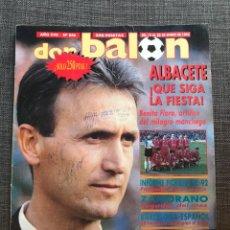 Coleccionismo deportivo: DON BALÓN 846 - PÓSTER GUARDIOLA - ALBACETE QUESO MECÁNICO - GORRIZ REAL SOCIEDAD - SUKER - POLSTER. Lote 162335178