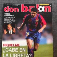 Coleccionismo deportivo: DON BALÓN 1411 - PÓSTER RAYO - RIQUELME - INZAGHI - FLUMINENSE - ANGULO VALENCIA - COPAS EUROPEAS. Lote 162338865