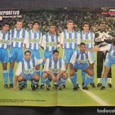 Coleccionismo deportivo: PÓSTER DEPORTIVO DE LA CORUÑA 99-2000 - EXTRAÍDO DE LA REVISTA DON BALÓN. Lote 162772069