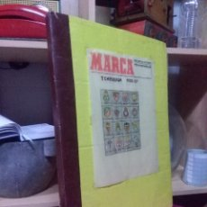 Coleccionismo deportivo: ENCUADERNACIÓN DIARIO DEPORTIVO MARCA AÑO 1956/57 ( 25 EJEMPLARES ) VER LEYENDA Y FOTOGRAFÍAS. Lote 162902678