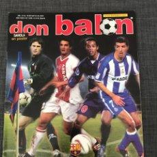 Coleccionismo deportivo: DON BALÓN 1439 - PÓSTER SAVIOLA - BARCELONA - GUTI - OPORTO - COPAS EUROPEAS. Lote 163565605