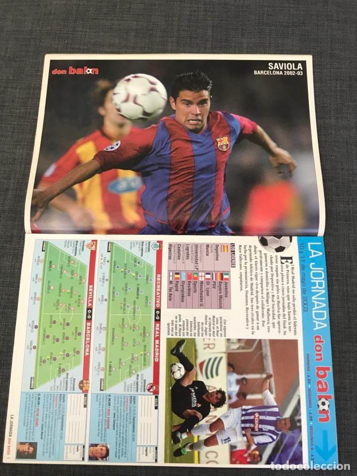 Coleccionismo deportivo: Don balón 1439 - póster Saviola - Barcelona - Guti - Oporto - Copas Europeas - Foto 5 - 163565605