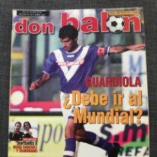 Coleccionismo deportivo: DON BALÓN 1381 - GUARDIOLA - REAL MADRID - KILY GONZÁLEZ - HERNÁN CRESPO - HUGO SANCHEZ - ZAMORANO. Lote 163576629