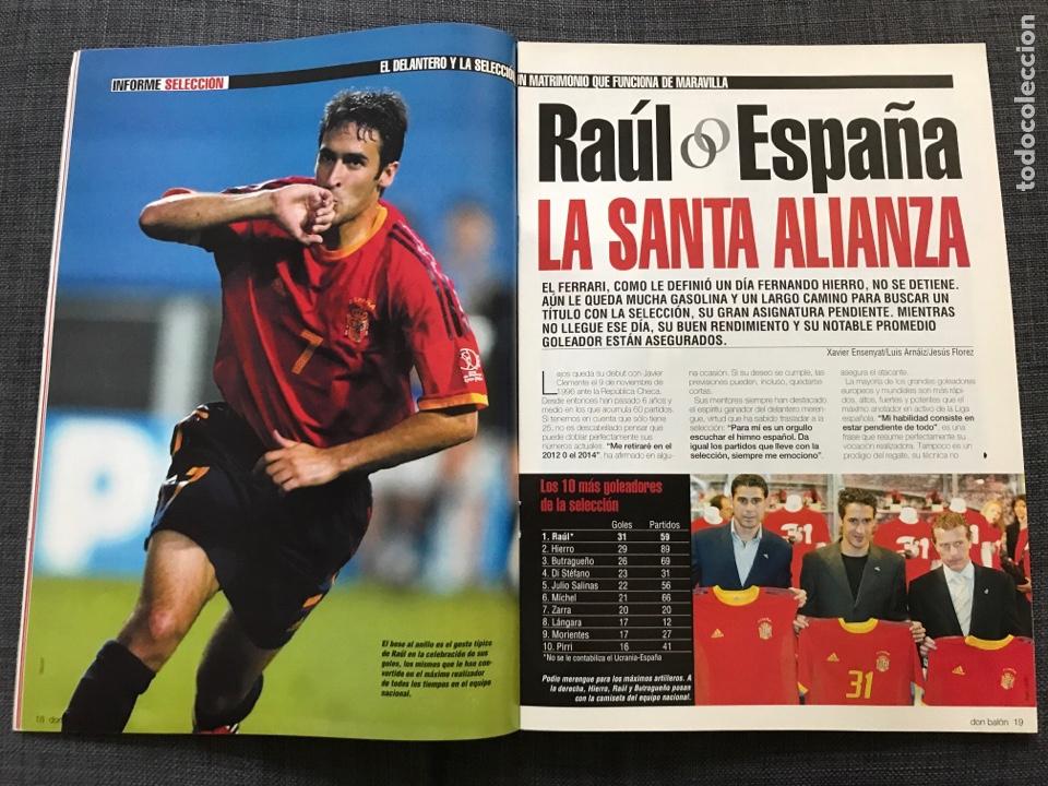 Coleccionismo deportivo: Don balón 1433 - Raúl - España - Dzajic - Carew - Brasil - Van Nistelrooy - Recreativo - Motta - Foto 3 - 163578338