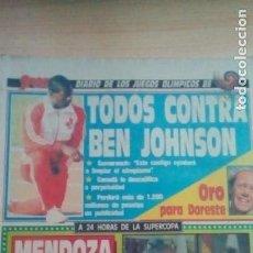 Coleccionismo deportivo: DIARIO SPORT - BEN JOHNSON-SCHUSTER- 28/09/1988. Lote 163582834