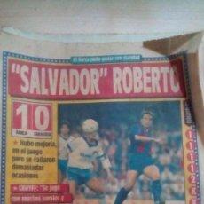 Coleccionismo deportivo: DIARIO SPORT - BARÇA 1-ZARAGOZA 0 - 31/10/1988. Lote 163585418