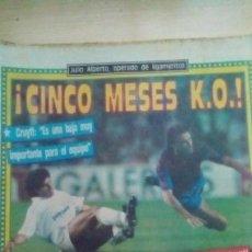Coleccionismo deportivo: DIARIO SPORT - JULIO ALBERTO - 23/09/1988. Lote 163585746