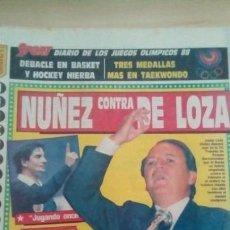 Coleccionismo deportivo: DIARIO SPORT - NUÑEZ CONTRA DE LOZA - 19/09/1988. Lote 163587886