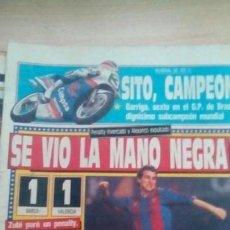 Coleccionismo deportivo: DIARIO SPORT - BARÇA 1-VALENCIA 1 - 18/09/1988. Lote 163587986