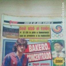 Coleccionismo deportivo: DIARIO SPORT - BAKERO - 17/09/1988. Lote 163588046