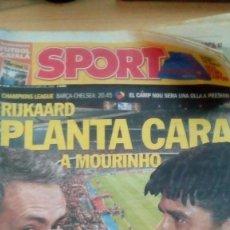 Coleccionismo deportivo: DIARIO SPORT - RIJKAARD PLANTA CARA A MOURINHO - 31/10/2006. Lote 163589502