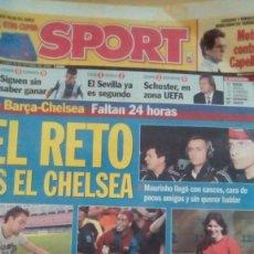Coleccionismo deportivo: DIARIO SPORT - EL RETO ES EL CHELSEA - 30/10/2006. Lote 163589610