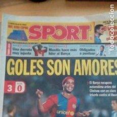 Coleccionismo deportivo: DIARIO SPORT - BARÇA 3- RECRE 0 -29/10/2006. Lote 163589762