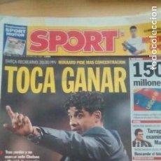 Coleccionismo deportivo: DIARIO SPORT - BARÇA-RECREATIVO - 28/10/2006. Lote 163589902