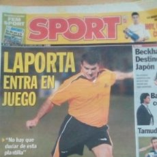 Coleccionismo deportivo: DIARIO SPORT - LAPORTA ENTRA EN JUEGO- 27/10/2006. Lote 163589998